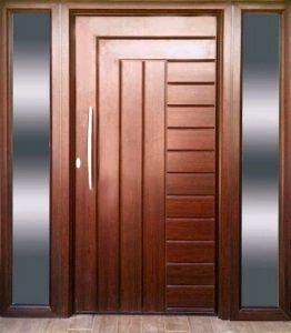 Puertas de entrada mod capri punto aluminio for Precio puerta madera exterior